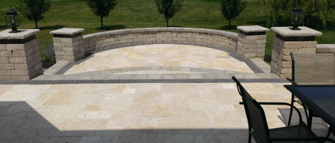 XP Landscapes Travertine Patio